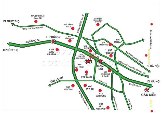 Dự án nằm trên trục đường 32, cách trung tâm hành chính mới Mỹ Đình 7km, cách tuyến đường sắt nội đô số 3 Nhổn – ga Hà Nội hơn 3km.
