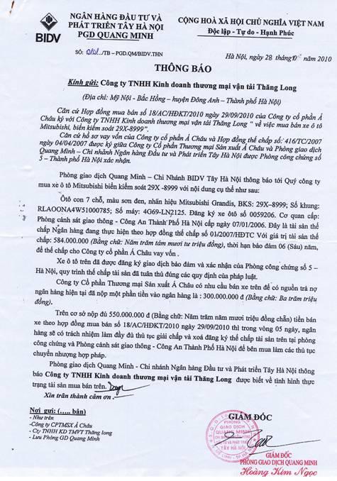 PGĐ BIDV Tây Hà Nội lên tiếng về vụ bị khách tố chiếm 800 triệu đồng (1)