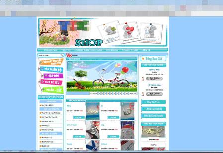 Trang bán hàng online của Ba. Ảnh: Thùy Trang