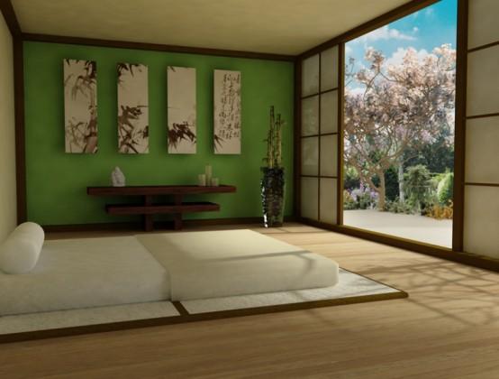 Phòng ngủ phong cách Zen 1