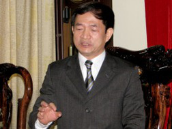 Ông Vương Đình Dung, Tổng giám đốc Tổng công ty xăng dầu quân đội. Ảnh: Hoàng Lan.