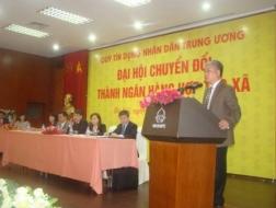 Phó Thống đốc NHNN Đặng Thanh Bình phát biểu tại Đại hội
