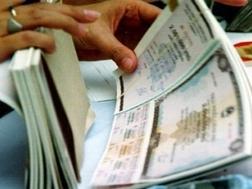 Chỉ huy động 180 tỷ đồng trái phiếu Chính phủ, lãi suất tăng 0,6%