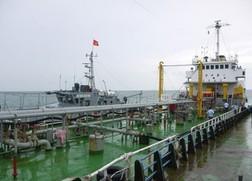 Tàu Giang Châu, con tàu bán xăng cho Công ty Hoàng Sơn - Ảnh: Hải Sâm