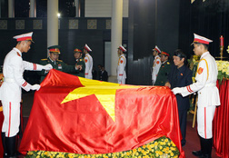 Hình ảnh lễ viếng Đại tướng tại Nhà tang lễ Quốc gia