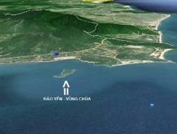 Khu vực Vũng Chùa - đảo Yến.