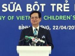 Thủ tướng Nguyễn Tấn Dũng dự lễ khánh thành Nhà máy sữa bột trẻ em của Vinamilk