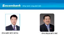 Sacombank thay đổi Chủ tịch HĐQT