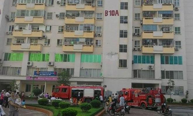 Cháy căn hộ tại chung cư Nam Trung Yên
