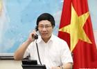 Phó Thủ tướng Phạm Bình Minh điện đàm với Ngoại trưởng Pháp