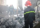 Cháy lớn cơ sở sản xuất bao bì tại Tiền Giang