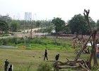 Cho sử dụng tạm thời đất ngoài đê sông Hồng làm bãi đỗ xe