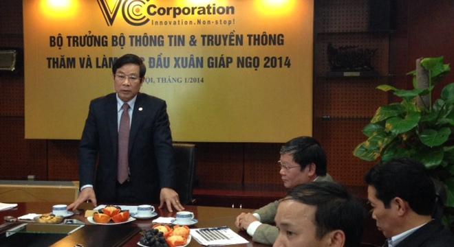 Bộ trưởng Bộ TT&TT Nguyễn Bắc Son phát biểu tại buổi gặp mặt