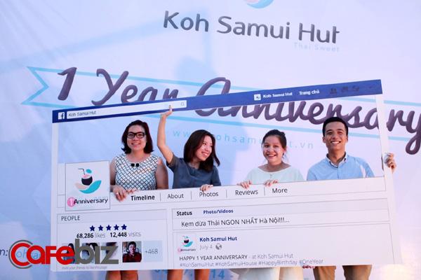 'Hình ảnh founder Nguyễn Hà Linh (thứ 2, từ trái sang) nhân dịp kỷ niệm 1 năm thành lập Koh Samui. Ảnh: NVCC.'