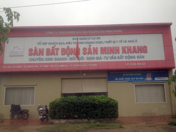Dự án xây dựng tổ hợp khách sạn, siêu thị kinh doanh dược, thiết bị y tế và nhà ở thuộc địa phận xã Nghi Phú, TP Vinh để xảy ra nhiều sai phạm đến nay chưa khắc phục. Ảnh: Lương Ý