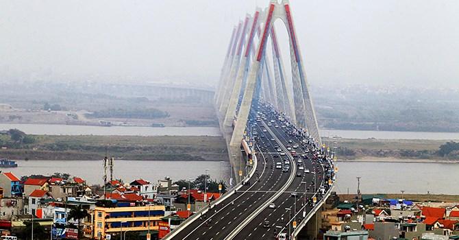 Cầu Nhật Tân ở Hà Nội được xây dựng với vốn ODA của Nhật Bản. Ảnh: ktxd.vn.