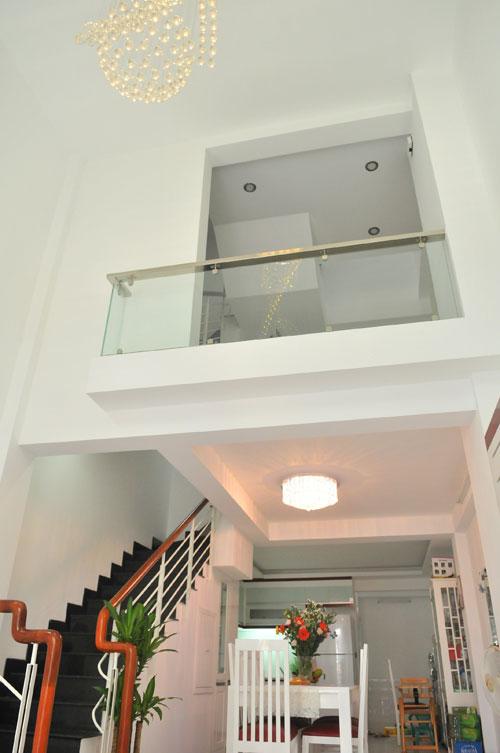 Vị trí phòng ngủ của hai vợ chồng Thanh Thảo nhìn từ dưới lên.