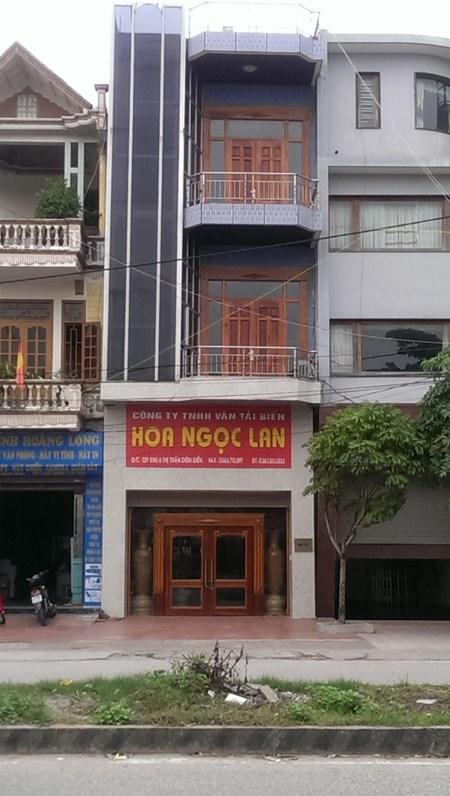 Trụ sở Công ty Hoa Ngọc Lan tại thị xã Diêm Điền,, huyện Thái Thụy, Thái Bình