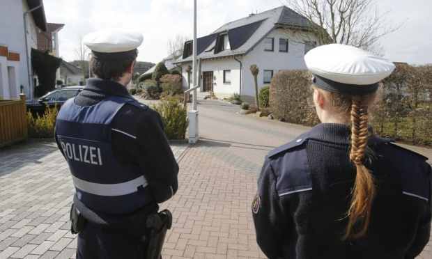 German police have been deployed outside what is thought to be Andreas Lubitz's home in Montabaur, in west Germany.