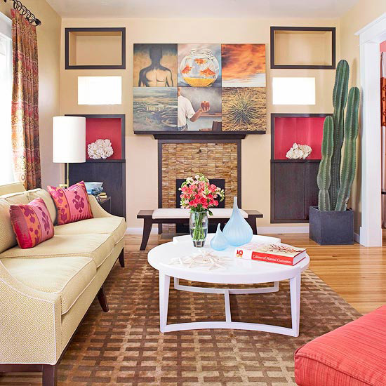 Colorful Living Room With Lots Of Neutrals