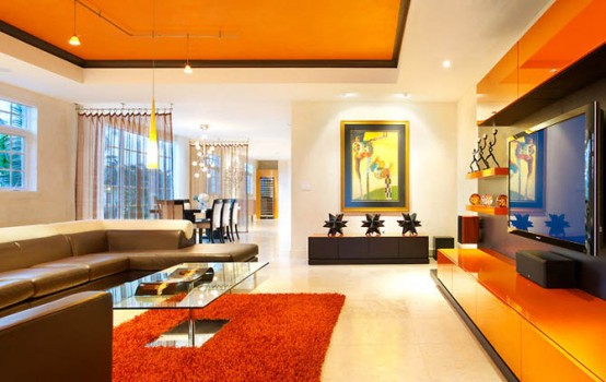 Contemporary Colorful Living Room Design