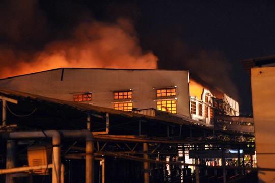Lửa cháy ngút trời một góc công ty
