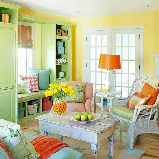 Cozy Living Room In A Bunch Of Colors