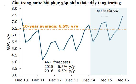 Dự báo tăng trưởng kinh tế Việt Nam (Nguồn: ANZ).