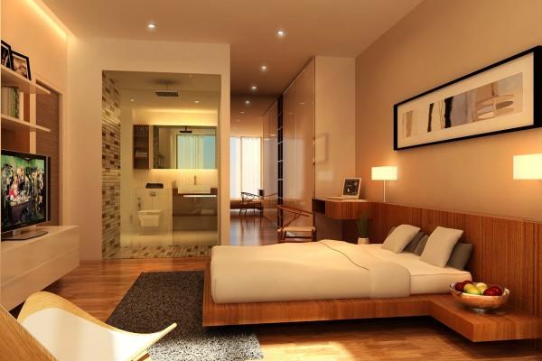 Gường ngủ cần phải được đặt nơi thông thoáng và không có xà nhà trên trần.