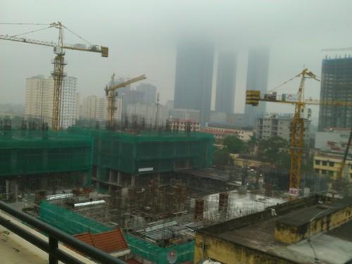Toàn cảnh công trình đang triển khai