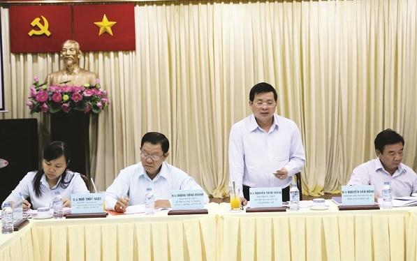 Ông Nguyễn Toàn Thắng, Giám đốc Sở TN-MT TP.HCM, phát biểu chỉ đạo.