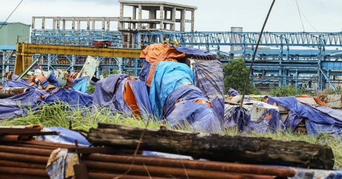 Dự án mở rộng giai đoạn 2 nhà máy Gang thép Thái Nguyên đắp chiếu chờ nhà thầu Trung Quốc