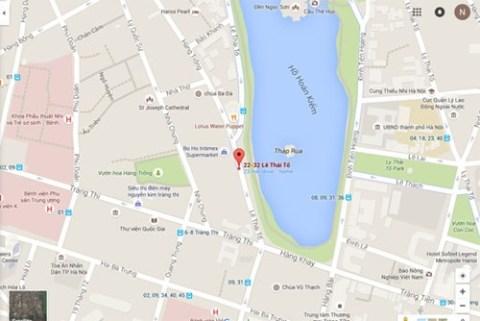 Vị trí dự kiến xây dựng khách sạn trên bản đồ