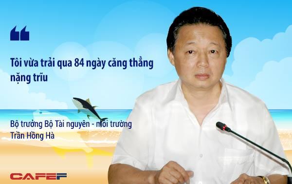 """Đây là câu nói của bộ trưởng Bộ Tài nguyên – môi trường Trần Hồng Hà 3 tiếng trước buổi họp báo công bố thông tin nguyên nhân cá chết, bởi trong khoảng thời gian đó, ông cho biết """"luôn nặng trĩu trách nhiệm trước đòi hỏi chính đáng của người dân – nguyên nhân sự việc là gì?"""""""