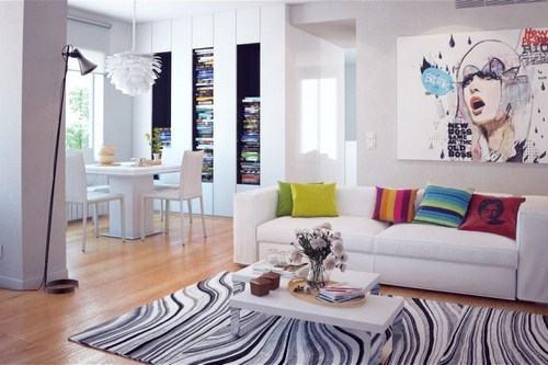 Căn phòng với phong cách Scandinavian đơn giản, hiện đại