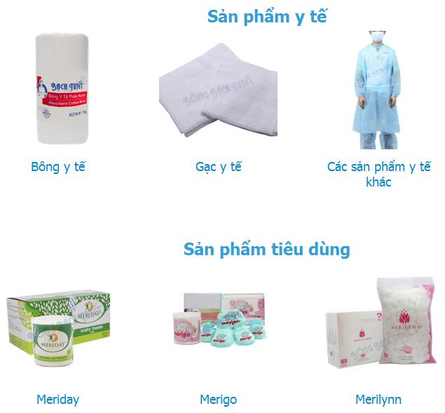 Các sản phẩm của Bông Bạch Tuyết