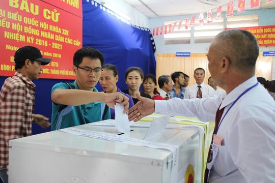 Một điểm bầu cử ngày 22-5 tại TP HCM