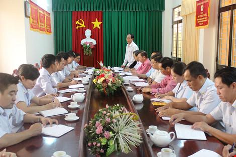 Một trong hàng loạt cuộc họp và thông tin việc xác minh giải quyết khiếu nại của ông Đoàn của ngành chức năng tỉnh Hậu Giang. Ảnh: GIA TUỆ