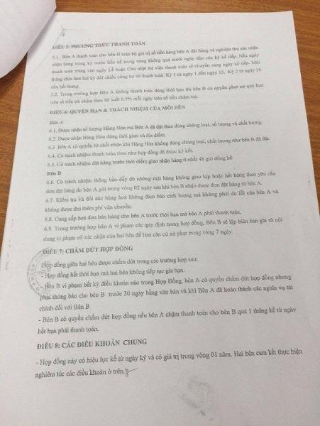 Cty Ẩm thực Kafe đã không thực hiện theo đúng thoả thuận tại điều 5 HĐKT số 01 ký với Cty Gia Tường.