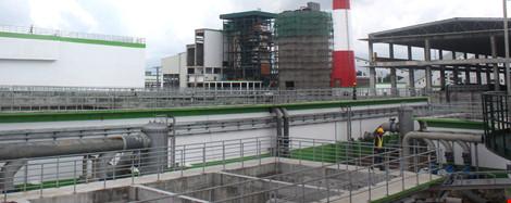 Một góc hệ thống xử lý nước thải của nhà máy giấy Lee&Man Việt Nam. Ảnh: GIA TUỆ