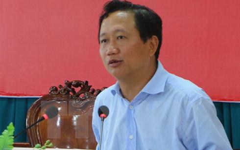 Nguyên Phó Chủ tịch Ủy ban Nhân dân tỉnh Hậu Giang Trịnh Xuân Thanh. (Ảnh: Huỳnh Sử/TTXVN)