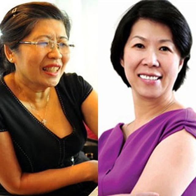Bà Ánh Hoa và Ánh Hồng, chị em gái của ông Hạnh Nguyễn, 2 nữ sáng lập hệ thống siêu thị Maximark và Citimart. (Hiện Maximark đã về tay Vingroup, Citimart bán 50% cho AEON).