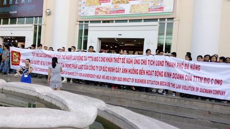 Big C kêu gọi chính quyền TP Đà Nẵng can thiệp giải quyết vụ việc . Ảnh: Minh Tuấn
