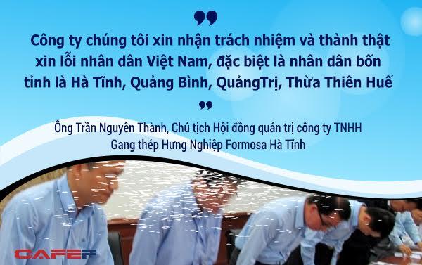 Lời xin lỗi thành khẩn của Formosa có thể được chấp nhận, bởi như Bộ trưởng, Chủ nhiệm Văn phòng Chính phủ Mai Tiến Dũng chia sẻ: Người Việt Nam đánh kẻ chạy đi chứ không ai đánh người chạy lại.