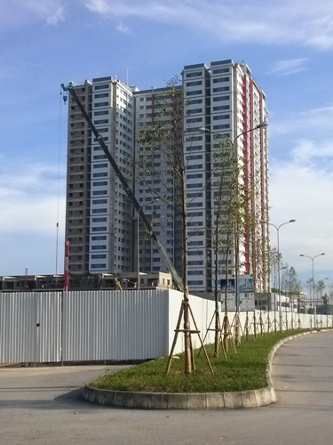 Toàn cảnh Chung cư The ONE Residence đang trong quá trình hoàn thiện nội thất