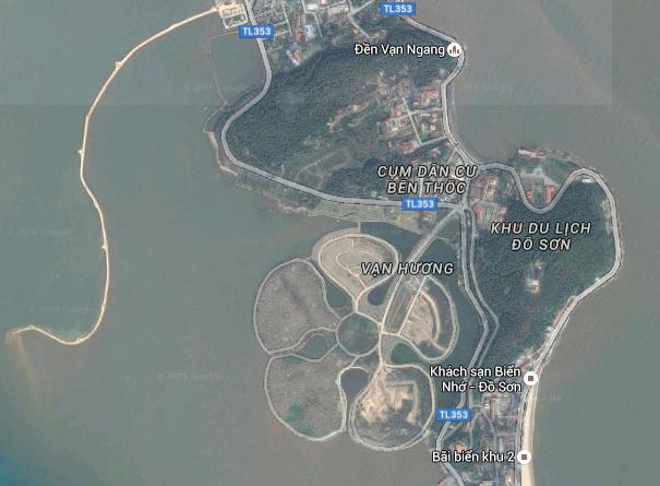 Đảo Hoa Phượng. Ảnh chụp từ Google Maps