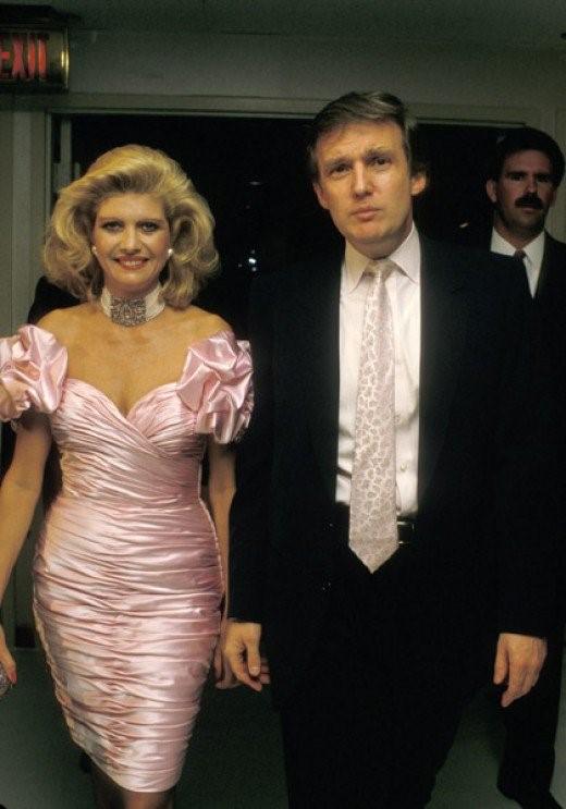 Donald Trump và người vợ đầu.