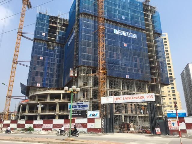 Tòa nhà 105 Usilk City đang được xây dựng