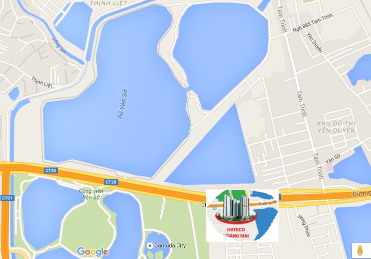 Khu chung cư nằm ngay cạnh công viên Yên Sở