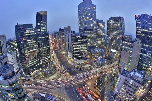 Trụ sở Samsung nằm trong quận Gangnam ở Seoul, Hàn Quốc